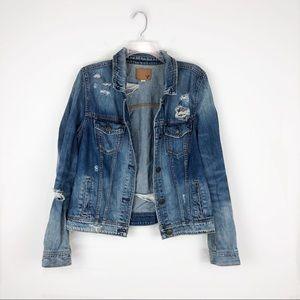 American Eagle Distressed Oversized Jean Jacket